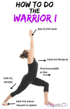 Warrior 1 yoga pose
