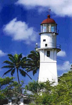 Diamond Head Light, HI; Southern side of Oahu. The keeper's dwelling at this lighthouse has been the residence of the 14th Coast Guard District commander since the 1940s. The lantern on the present tower came from the previous (1899) tower.
