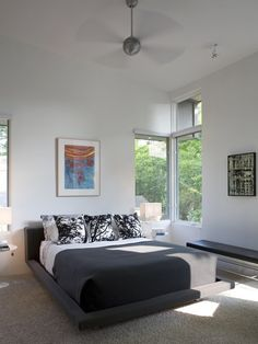 Inspiration For A Modern Bedroom Remodel In Other With White Walls And Carpet Mdash Nbsp Inspiration For A Modern Bedroom Remodel In Other With White Walls And Carpet Mdash Nbsp
