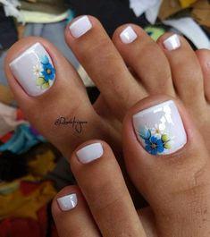Summer Toes – 40 Best Summer Toe Nail Art for 2019 - Beauty Home Toe Nail Color, Toe Nail Art, Nail Colors, Nail Nail, Acrylic Toe Nails, Nail Polish, Pretty Toe Nails, Cute Toe Nails, Purple Toe Nails