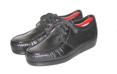 Knapp Women's Black Leather Steel Toe Safety Oxford Shoe Made USA Size 10 EE  #Knapp #WorkSafetyOxford