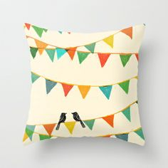 LOVE this Throw Pillow Cover - Carnival is coming to town Throw Pillow by Budi Satria Kwan - $20.00