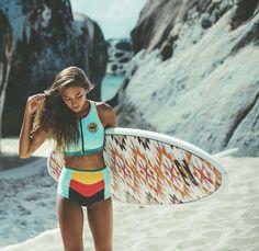 Bracelets for Women Surfer Bracelet Beach Jewelry teen girls surfer summer handmade boho indian Made by Nami -yellow Surfer Girl Outfits, Surfer Girl Style, Surfer Girls, Surfer Surf, Surfs Up, Surf Workout, Snowboard, Beach Bodys, Surf Hair