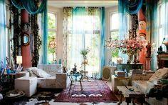Pretty boho-chic room. So many elements. Bohemian Inspiration!