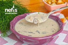 Harika Kremalı Mantar Çorbası (videolu) - Nefis Yemek Tarifleri Cheeseburger Chowder, Soup, Ethnic Recipes, Recipes, Soups