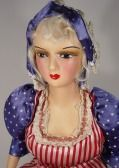 A profile on vintage Boudoir Dolls including dates of production, sizes and general information.
