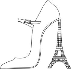 Find This Pin And More On Paris Is ALWAYS A Good Idea 3 Beyond The Fringe Digi Freebie French Theme Kuvahaun Tulos Haulle Eiffel Tower Coloring Page