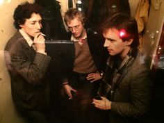 Lovely photo taken backstage at the Comedy Store in the early 80's. Rik Mayall, Ade Edmondson and who's the 3rd guy?