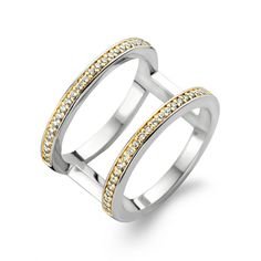 Ti Sento Ring, Silver/Gold