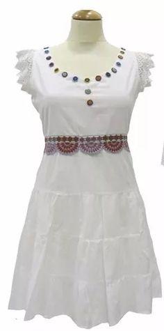 vestido algodón bordado. estilo bendito pie 619b5593cab9e