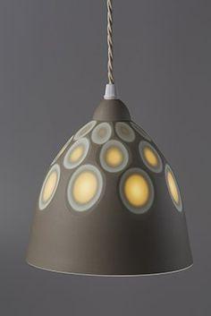 Bone China Lamp shades by Sasha Wardell