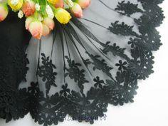 5'1yard delicate black embroidered flower tulle lace trim for DIY *** For more information, visit image link.