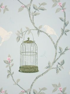 Nina Campbell's Birdcage Walk (NCW3770-03) wallpaper is available to purchase online from Lines of Pinner.