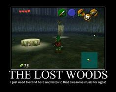 The Lost Woods- I used to stand here and listen to that awesome music for ages