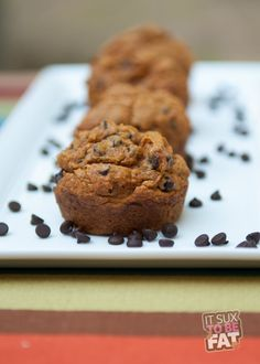 Pumpkin Chocolate Chip Muffins - Healthy and Delicious! #recipe #weightwatchers