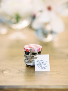 """Outdoor Styled Southern Dinner Party - Behind-the-Scenes of a Styled Shoot (Jelly Jars, """"Jam-packed with love. Seed Wedding Favors, Edible Wedding Favors, Unique Wedding Favors, Wedding Ideas, Wedding Details, Wedding Blog, Jam Favors, Party Favors, Southern Dinner"""