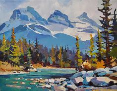 Canadian painter Randy Hayashi is a featured artist at the mountain galleries at the fairmont.