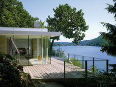 Lake House, Kreuzau, Germany, by LHVH Architekten. Photo by Lukas Roth.