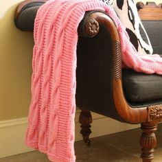 Hand Knitted Throw- gorgeous! Love Love Love this!!! Can someone pls knit me one?!