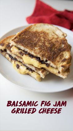 National Grilled Cheese Day, Best Grilled Cheese, Grilled Cheese Recipes, Fig Recipes, Jam On, Fig Jam, Cheddar, Grilling, Sandwiches