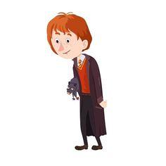 Вот такой долговязый Рон Уизли. Ron Weasley. #hp #harrypotter #ronweasley #magic #hogwarts #joannerowling #art #artist #illustration #draw #photoshop #wacom #instadraw #instaart #like #rat #gryffindor