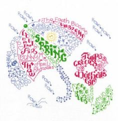 Let's Think Spring is the title of this cross stitch pattern from Imaginating.