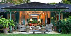 At the Barbados villa