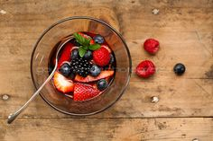 mixed fresh berries macerated in a rosé wine with honey mascarpone fruit soup 1 of 4 Mixed Berries in Rosé Wine with Honey Mascarpone | a Summery Fruit Soup