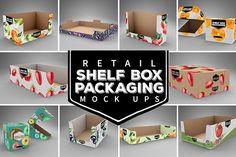 Retail SHELF BOX Packaging MOCK UPS / bundle