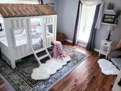 This past spring, I had the great opportunity to join the Better Homes and Gardens One Room Challenge as a guest participant, where I transformed my little baby… Plywood Plank Flooring, Engineered Hardwood Flooring, Diy Flooring, Hardwood Floors, Big Girl Rooms, Better Homes And Gardens, Bed Frame, Toddler Bed, Toddler Rooms