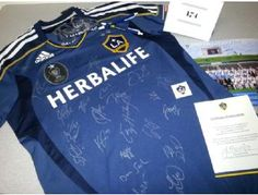 Come bid on this Autographed LA Galaxy Official Licensed Jersey with Certificate of Authenticity and More! Auction ends tomorrow at midnight (2/28/2013)
