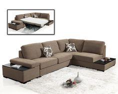 divani casa risto modern fabric sectional sofa bed
