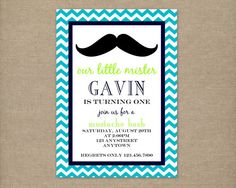 LITTLE MISTER Little Man Birthday Party by thepaperblossomshop, $10.00