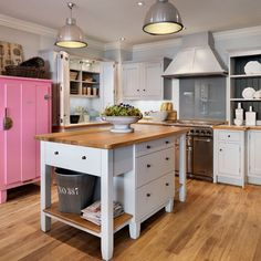 kitchen islands | Painted freestanding island | Kitchen islands - 10 ideas | Kitchen ...