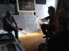Durante l'intervista a Franco Pagetti, per PHOM, fotografo dell'agenzia VII, inviato del NYT.