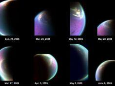 Snapshots of Titan's North Polar Cloud #wow