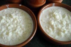 Informação Nutricional - Mingau de arroz. Porção, calorias, gorduras totais, saturadas, trans, colesterol, sódio, carboidratos, fibras, açúcar, proteínas,