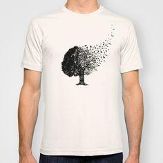 Autumn Birds T-shirt by Laurxy - $22.00