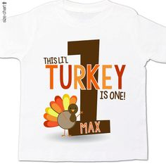 thanksgiving birthday shirt  turkey birthday shirt  by zoeysattic, $16.50