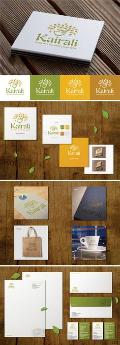 Logo, stationery and brand manual designed for Kairali ayurvedic group