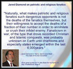 Jared Diamond on religious fanatics