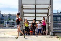 Urban Fitness by Jasmina Aleksandrov @ južni plato Kombank Arene 9. maj 2015.   Photo: Aleksandar Dmitrović Urban Fitness, Basketball Court, Running, Sports, Hs Sports, Keep Running, Why I Run, Sport