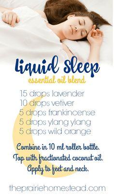 Liquid sleep essential oil blend