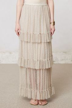 Sachin + Babi Tiered Lace Maxi Skirt #AnthroFave