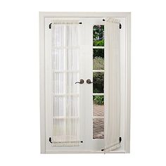 Double sliding patio doors procura best front door curtains oscarsplace diy room divider curtain swing arm curtain rods adjule 50 french door curtain rods you llSwing Arm Curtain Rod Roller Shades Medium. Swing Arm Curtain Rods, Drapery Rods, Style At Home, French Door Curtains, French Door Window Coverings, Tab Curtains, Burlap Curtains, Sheer Curtains, Design Furniture