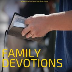 Living Intentionally using Family Devotions. On the blog I share how our family (complete with special needs and toddlers) studies the bible together. Videos included!