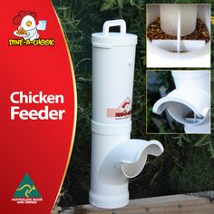 DINE-a-CHOOK 3.5L Chicken Feeder#chickens feeders #hens #eggs #feeders #homesteading #farmers #drinkers #Townsville #shop #Mealworms #chickens  #PoultryFarming