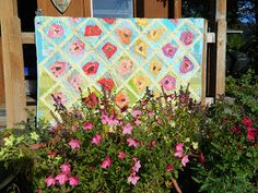 Finished or Not Friday - a Linky Party at Busy Hands Quilts! Em's Scrapbag: My Wonky Rose Garden is a Wrap Scrap Quilt Patterns, Hand Quilting, Quilting Tips, Paper Piecing, Quilting Designs, Baby Quilts, Flower Pots, Flowers, Backdrops