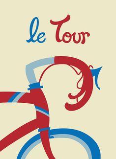 Le Tour Cycling Illustration Tour de France by lucyirving