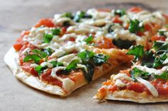 Easy Vegan, Gluten-Free Chickpea Crust Pizza- The Colorful Kitchen